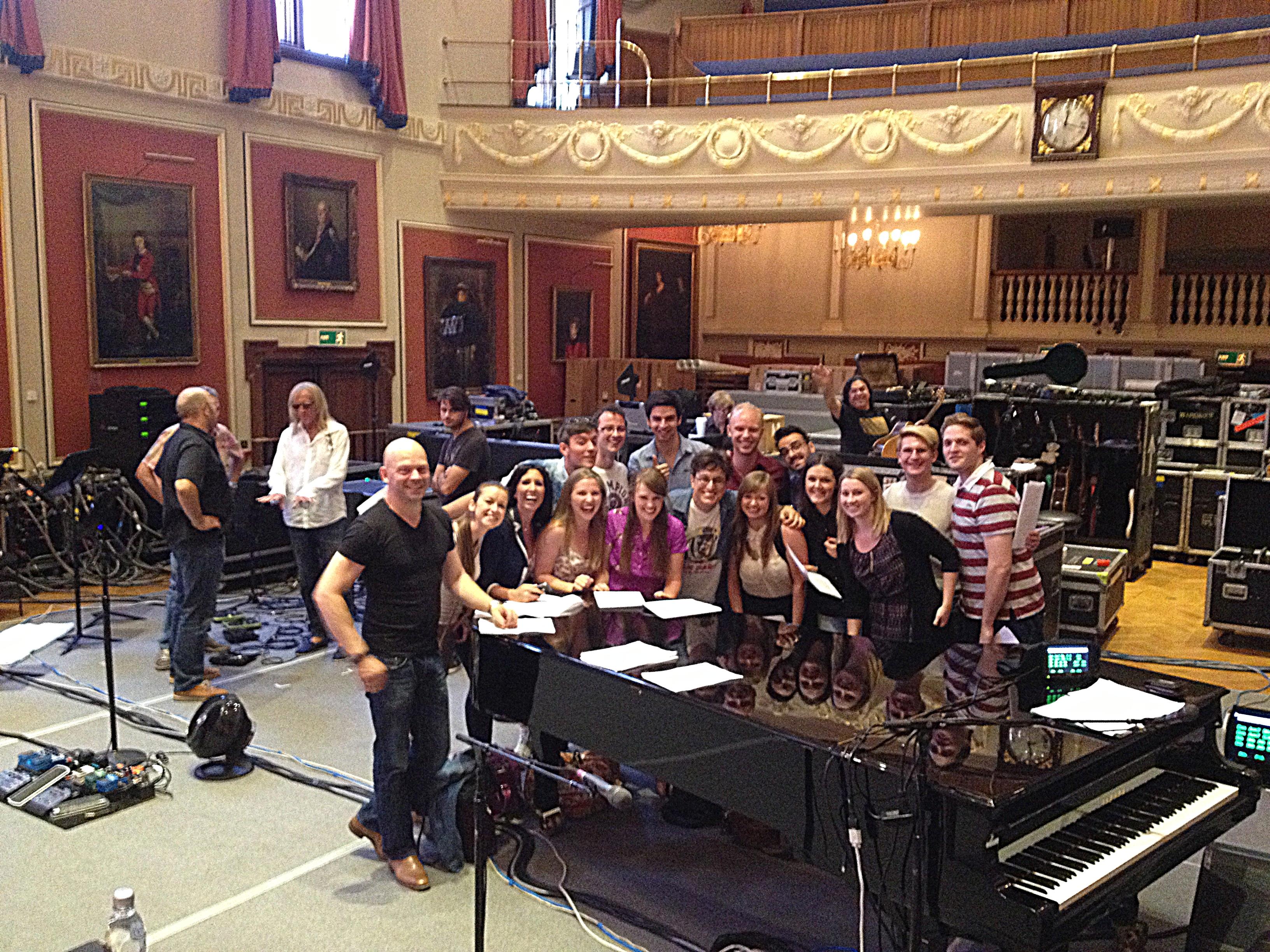 Royal Academy Choir with Adam in London 2013